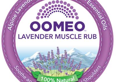 Lavender muscle rub front label