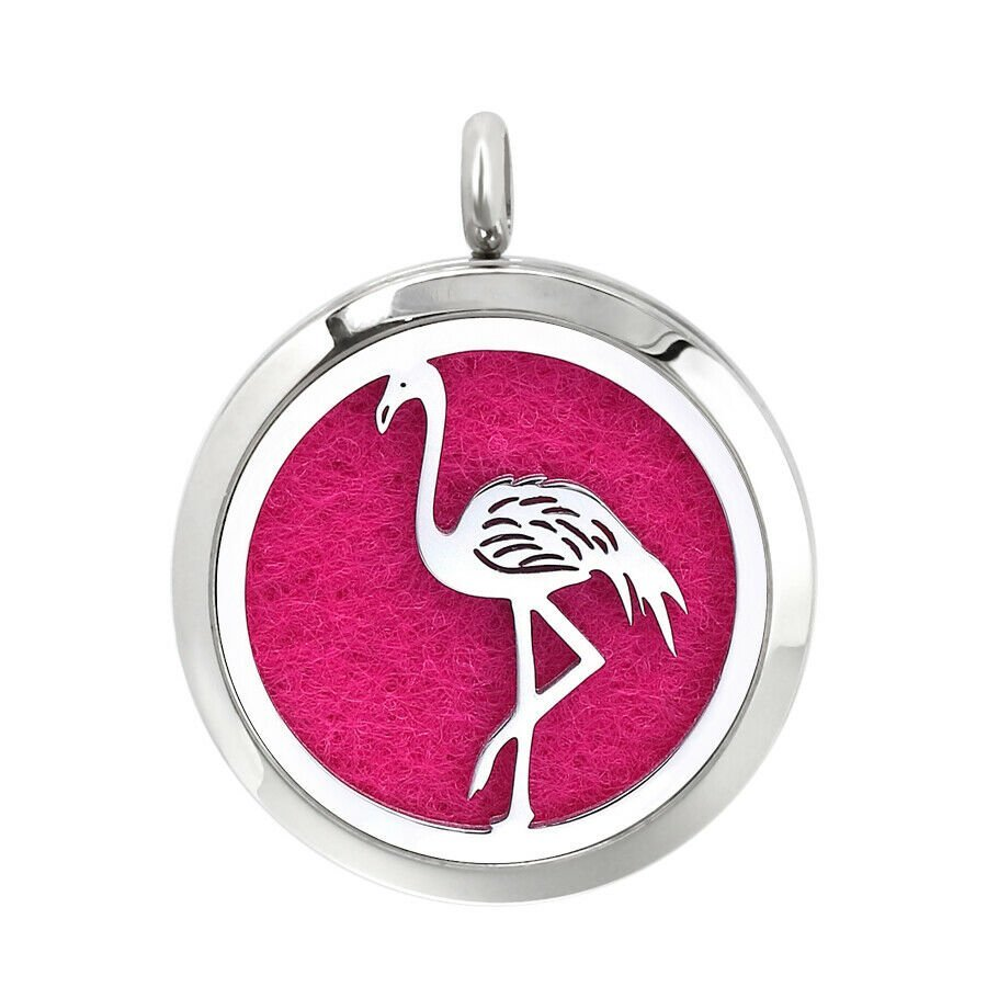 Flamingo design necklace diffuser (16 colours)