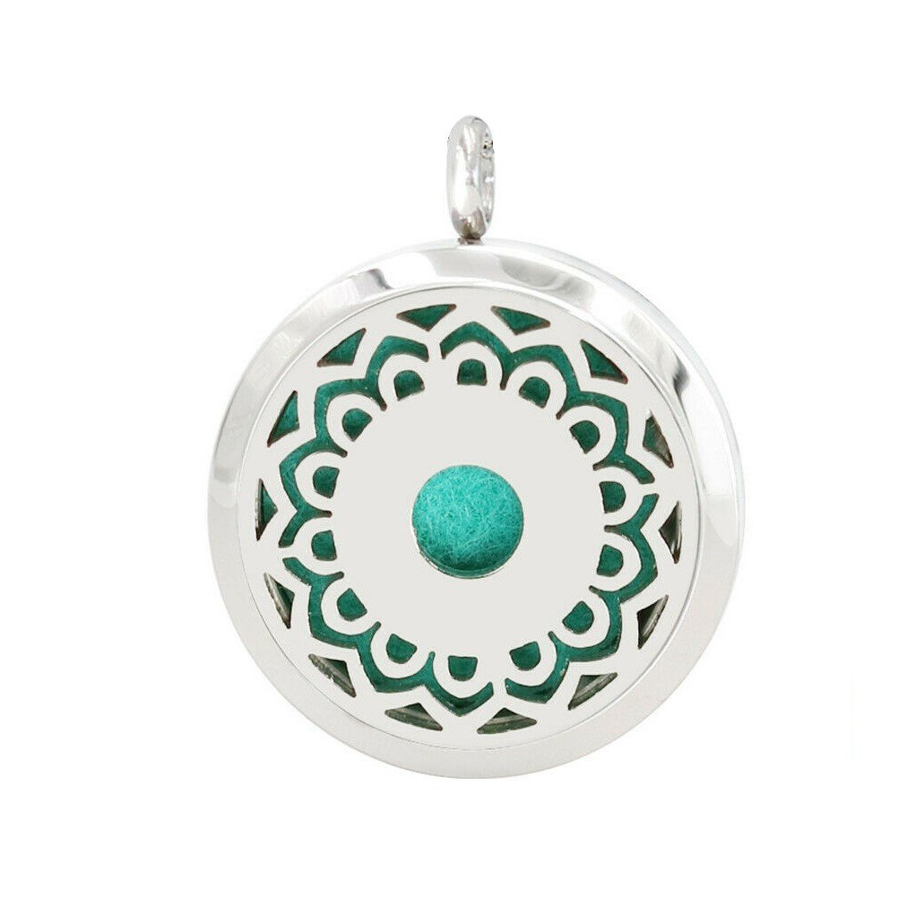 Flower design necklace diffuser