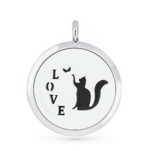 Cat love necklace diffuser