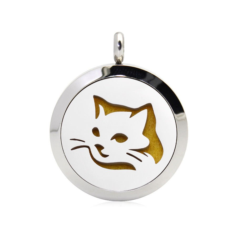 Cat face necklace diffuser (15 colours)