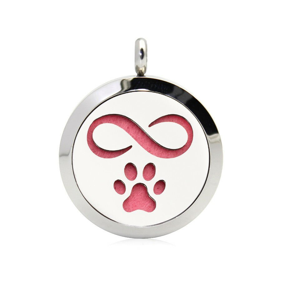 Paw forever necklace diffuser (15 colours)