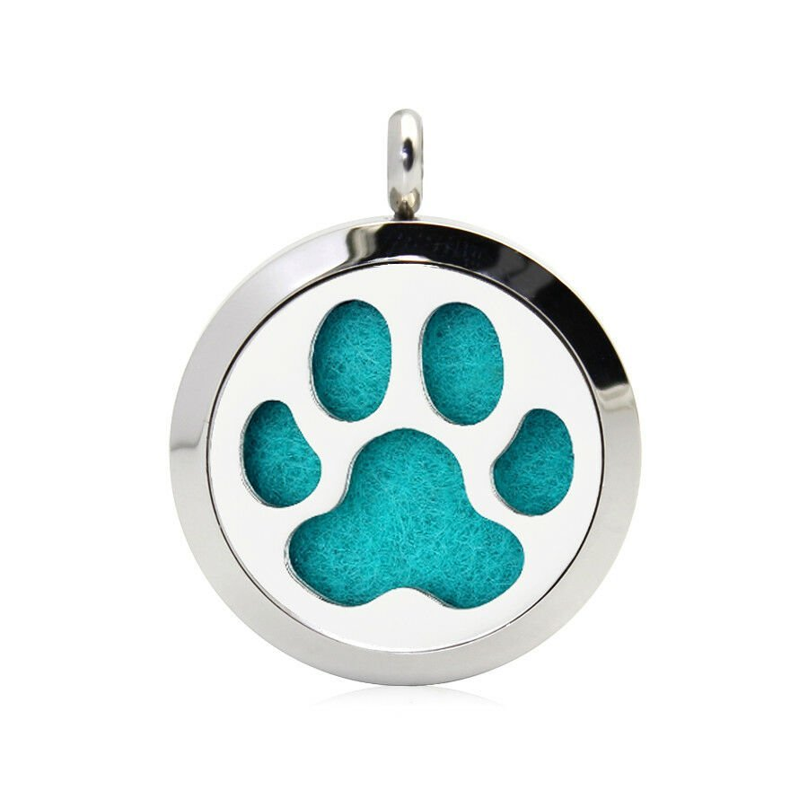 Dog paw necklace diffuser (15 colours)