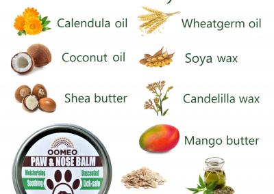 Vegan Paw Nose Balm Ingredients