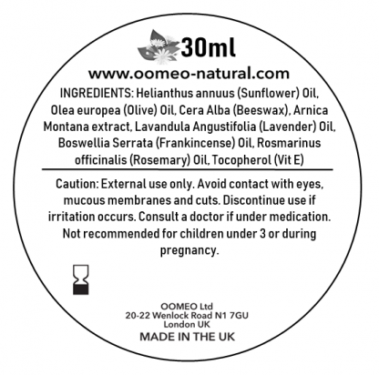Arnica Salve Ingredient Label