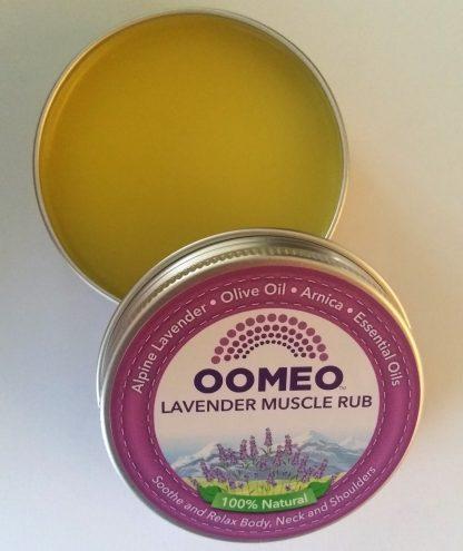Lavender Muscle Rub Open Lid