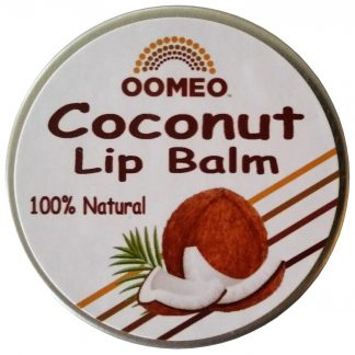 Coconut Lip Balm Pot White Background