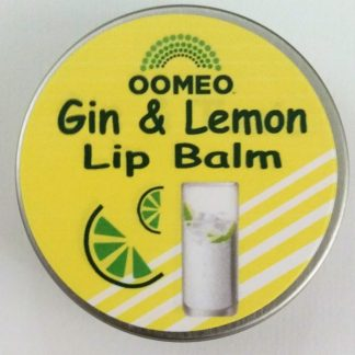Gin and Lemon Lip Balm Pot Open Lid