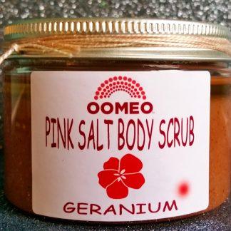 Geranium Bath and Body Himalayan Pink Salt Scrub