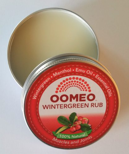 Wintergreen Rub Open Lid